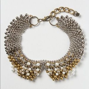 Anthro Pam Hiran Sparked Agate Collar Necklace